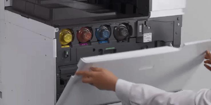 影印機如何換碳粉_打開影印機前蓋_第1步驟